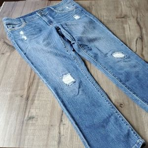 WHBM Blanc Slim Crop Jeans